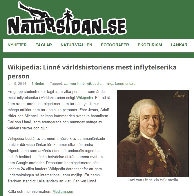 Wikipedia-Linné