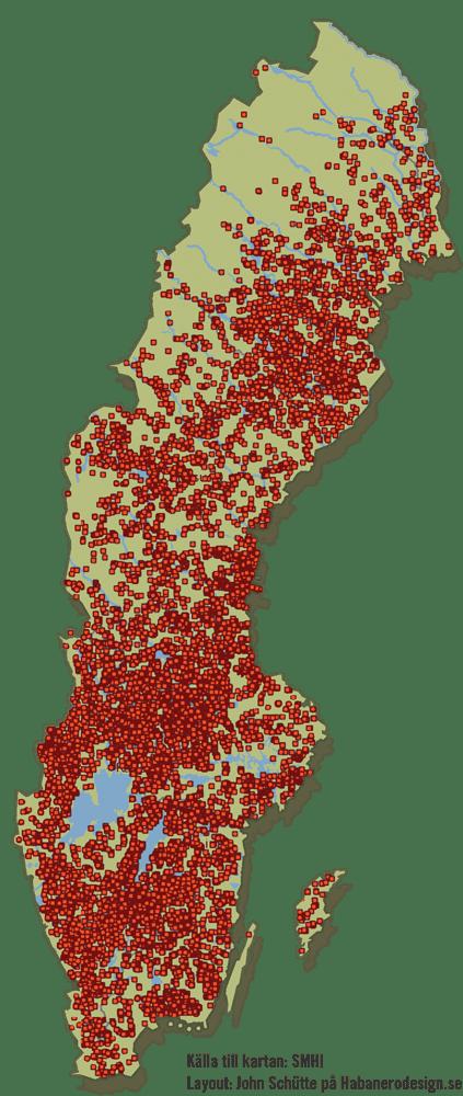 Vandringshinder i Sverige.
